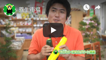 道の駅泗水「養生市場へのインタビュー動画